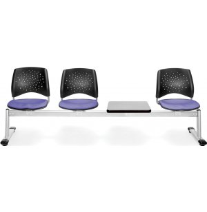 Stars Beam Seating in Fabric - 3 Seats, 1 Table