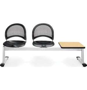 Moon Beam Seating in Plastic - 2 Seats, 1 Table
