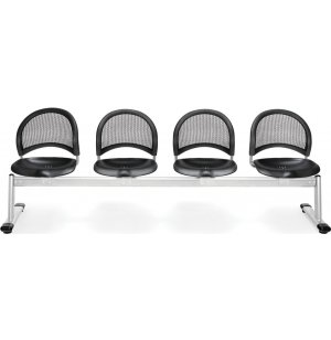 Moon Beam Seating in Plastic - 4 Seater