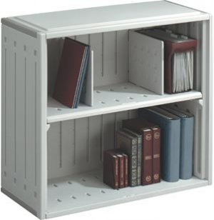 SnapEase Stackable Plastic Shelving with Moveable Dividers