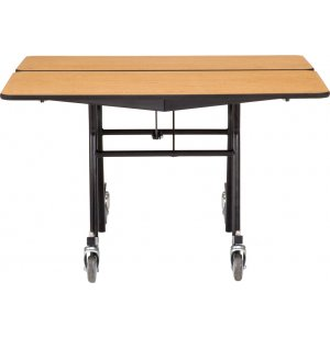 NPS Square Cafeteria Table- MDF, ProtectEdge, Chrome