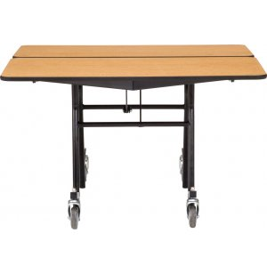 Mobile Folding Square Cafeteria Table - Plywood