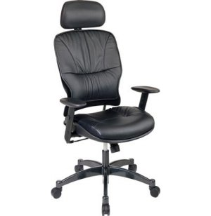 Leather Task Office Chair with Headrest