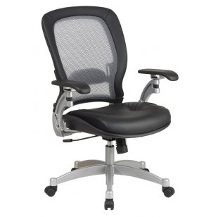 Leather Air-Grid Office Chair
