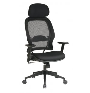 Mesh Fabric Air Grid Office Chair - Headrest