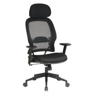 Mesh Fabric Air Grid Office Chair - Headrest