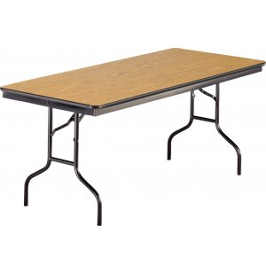 Rectangular Plywood Folding Table