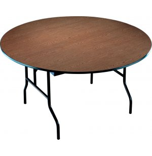 72in Round Plywood Folding Table