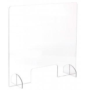 Portable Acrylic Sneeze Guard w/ Pass-Through