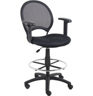 Mesh Drafting Stool with Arms