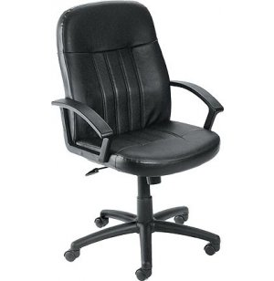 Executive Leather Mid Back Swivel Office Chair