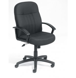Executive Fabric Mid Back Swivel Office Chair