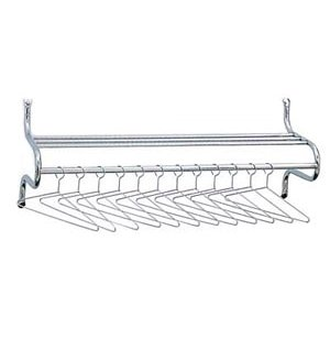 Contemporary Wall Mounted Coat Rack with Hat Shelf