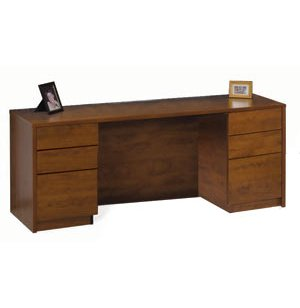 Accomplish Office Computer Credenza w/ Full Pedestals