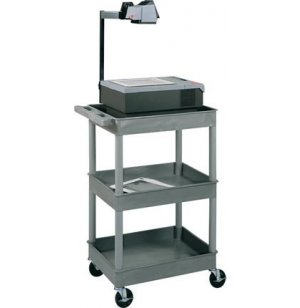 Heavy Duty 3 Shelf AV Cart Black