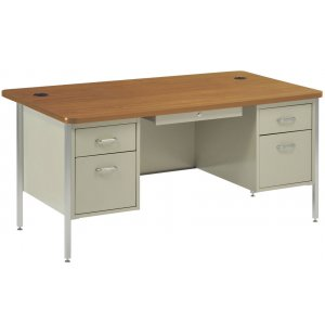 Double Pedestal Teacher Desk