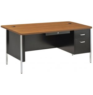 Single Pedestal Metal Teachers Desk