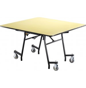 Easy-Fold Cafeteria Table-Chr, Square,ProtectEdg, Plywood