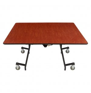Easy-Fold Cafeteria Table - Plywood, Chrome Frame, Square