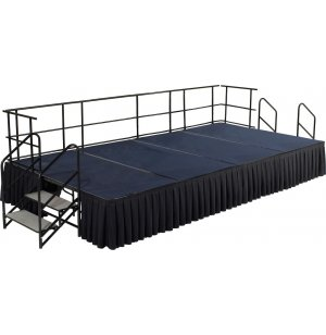 Fully Equipped Carpeted Portable Stage Set