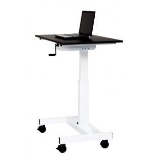Luxor Crank Standing Desk with Single Column,
