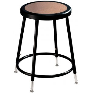 NPS Adjustable Metal Lab Stool - Black Frame