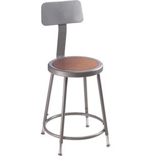 Stool with Backrest - Adjustable Height