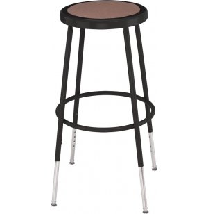 Adjustable Metal Lab Stool - Black Frame