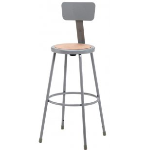 NPS Metal Lab Stool with Backrest
