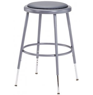 NPS Adjustable Padded Metal Lab Stool