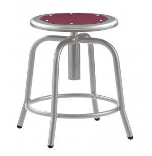Designer Lab Stool with Metal Seat