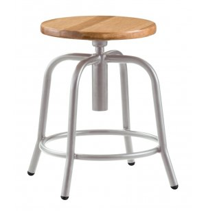 Designer Lab Stool with Wooden Seat