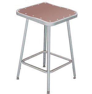 Adjustable Square Metal Lab Stool