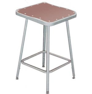NPS Adjustable Square Metal Lab Stool