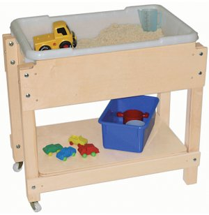 Junior Wooden Sand and Water with Lid/Shelf