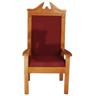 Center Pulpit Chair, Stained