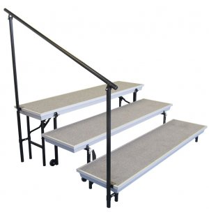 Side Rail for 3-Level Transport Risers