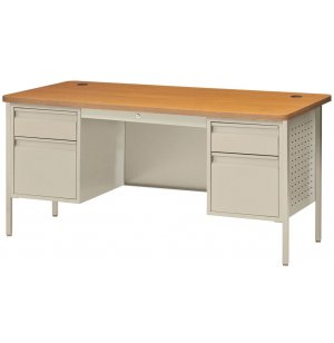 Double Pedestal Steel Teacher's Desk