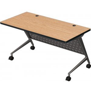 Trend Fliptop Training Table, Black Frame