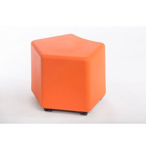 DuraFlex Modular Soft Seating - Pentagon, Casters