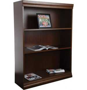 Wood Veneer Bookcase Excalibur Shelves