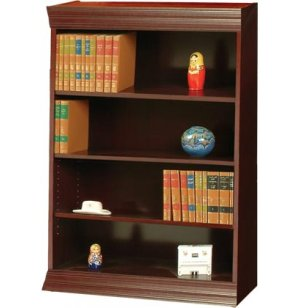 Wood Veneer Bookcase Standard Shelves