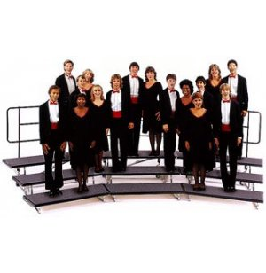 Transfold Portable Choir Risers- 3 Levels, 72