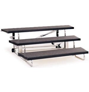 Transfold Portable Choir Risers - 3 Levels, 48