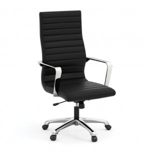 Tre Light Leather High-Back Chair