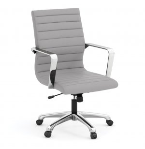Tre Light Leather Mid-Back Chair