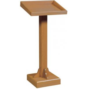 Recessed Top Wood Lectern, Stained