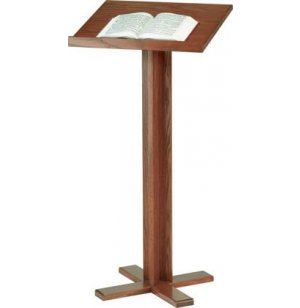 Cross Base Lectern, Stained