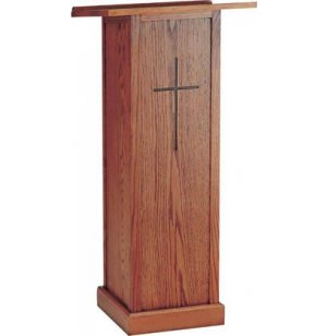 Full Pedestal Lectern, Stained