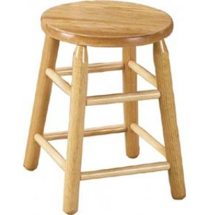 Wood Stool in Natural